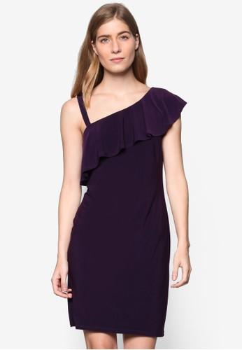 單肩荷葉飾鉛筆無袖連身裙, 服飾esprit分店, 服飾