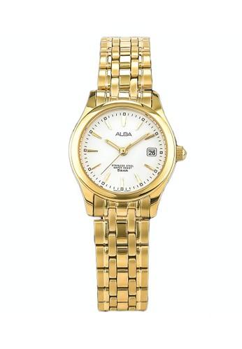 Alba gold ALBA Jam Tangan Wanita - Gold White - Stainless Steel - AXT844X1 0A6B2ACAC8BF49GS_1