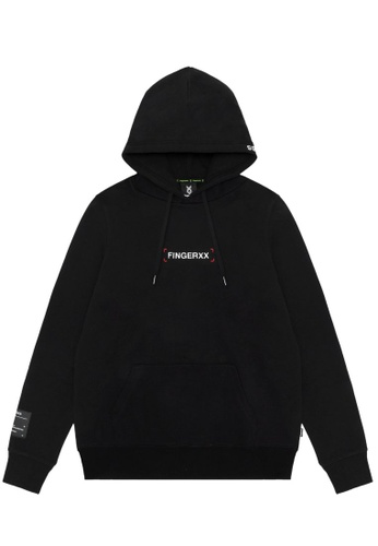 Fingercroxx black Graphic print hoodie 6757FAA1F2A834GS_1