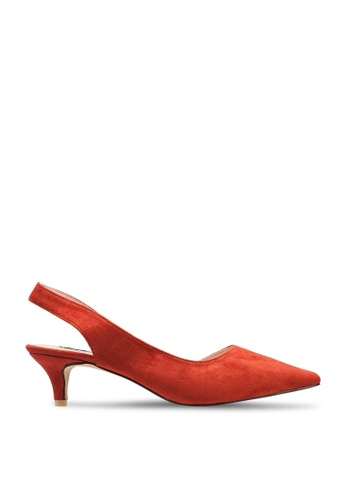 nose orange Low Heel Slingback Pumps 0CF55SH2FD407EGS_1