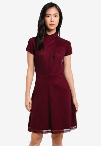 ZALORA red Twist Neckline Detail Dress 79A05AAEB379BBGS_1