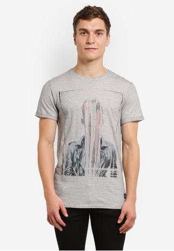 !Solid grey Kayson Faded Print Melange T-Shirt SO701AA0RU72MY_1