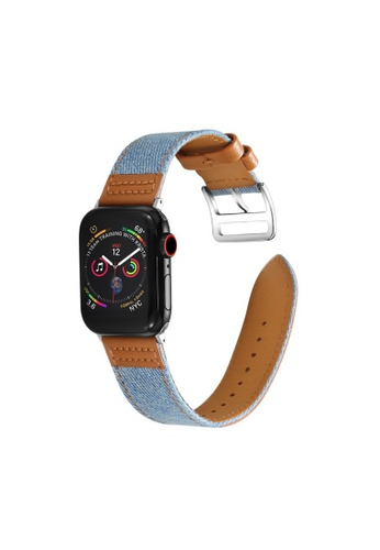 Kings Collection blue Genuine Leather Apple Watch Band 38MM / 40MM (KCWATCH1006) AF0F9ACC08B1C1GS_1
