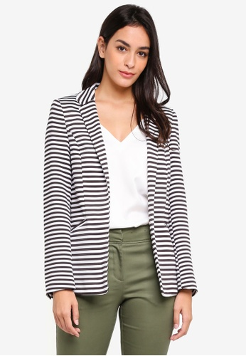 And Black Buy Ribbed 7yr8wq Striped Button Wallis White Jacket Online gy7f6b