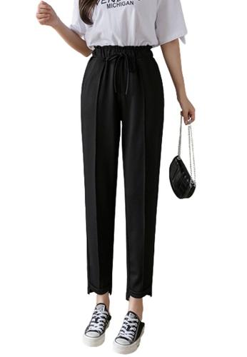 Halo black Casual Cropped Pants 38763AA177E597GS_1