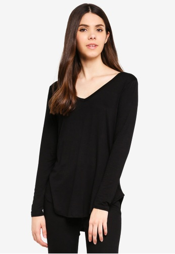 Cotton On black Karly Long Sleeve Top 7395AAA2D30B87GS_1