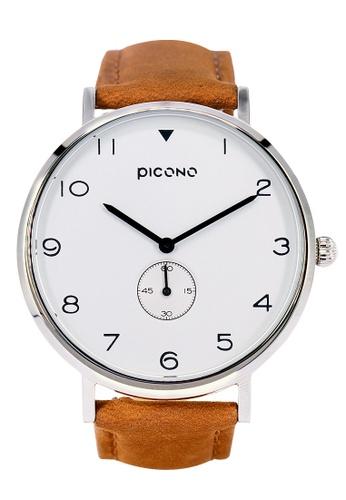 PICONO Watches white Spy S Unique Fashion Leather Strap Watch PI771AC2VUSOHK_1