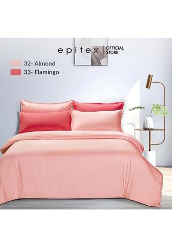 Epitex red Epitex 900TC Silkysoft Bedsheet - Bedsheets - Bedset - Fitted Sheet Set - Bedding Set - Flamingo (w/o quilt cover) 613D3HL1C023B0GS_1