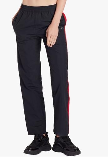 Calvin Klein black COLOR TAPE WVN PANTS 743B0AA1828AB6GS_1