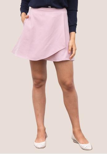 L'zzie pink LZZIE CELINE SKORTS - PINK E6A6AAA3B30DD3GS_1