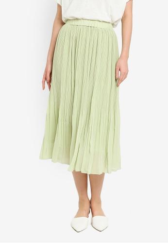 niko and ... green Woven Midi Skirt 06273AAC151E94GS_1