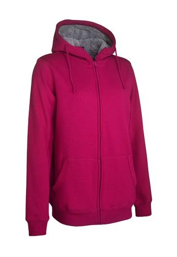Universal Traveller pink Universal Traveller Adult Unisex Fleece Jacket / SWEATER - Pink- FJ 5605 UN858AA0RBR5MY_1