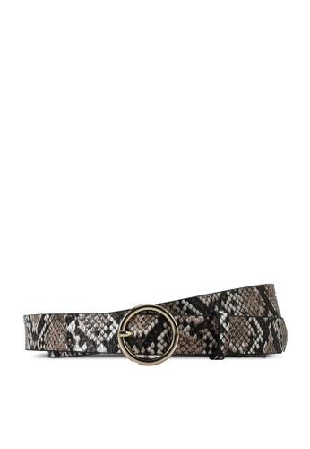 H&M brown Python Belt 41E3EAC4A90C8FGS_1