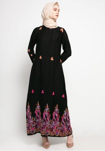 AZZAR black Zel Maxi Dress 8915BAA6EF1AEEGS_1