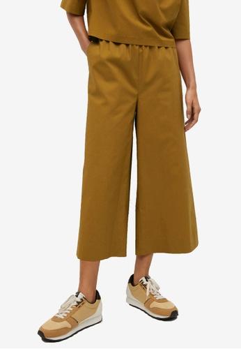 Mango yellow Cotton Culotte Trousers 592B2AAF5BBB80GS_1