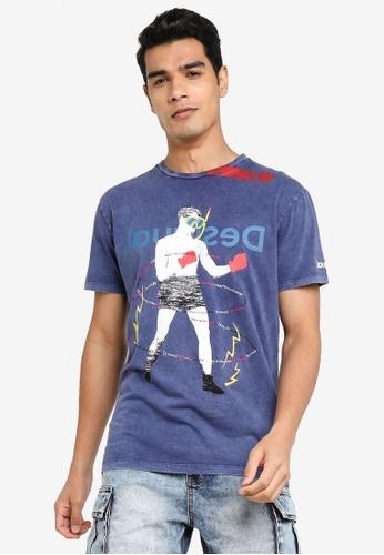 Desigual navy Collage Print T-shirt 59A7DAAB795A07GS_1