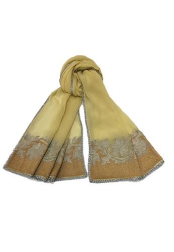 Devain Kapoor beige Lotus Ganga Selendang 3872AAA4E73E2CGS_1