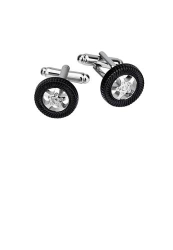 Glamorousky silver Fashion Personality Tire Cufflinks D379FAC20AEFBDGS_1