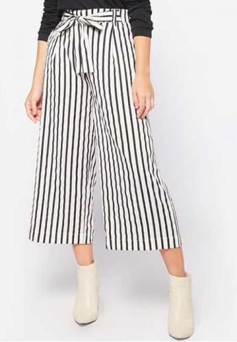 Evernoon white Naomi Highly Long Pants Desain Pita Motif Stripe Celana Panjang Wanita - Putih 80861AACA10CD8GS_1