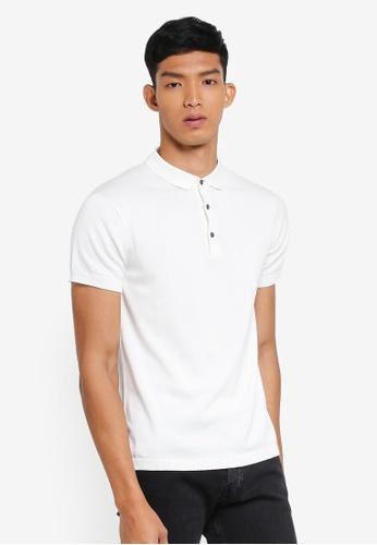 Jack & Jones white Igor Knit Polo Shirt 6A9DAAA0D36C30GS_1