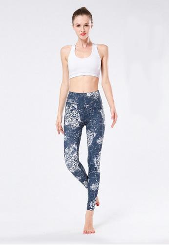 B-Code grey ZYG3021-Lady Quick Drying Running Fitness Yoga Sports Leggings -Grey C3200AA228238FGS_1