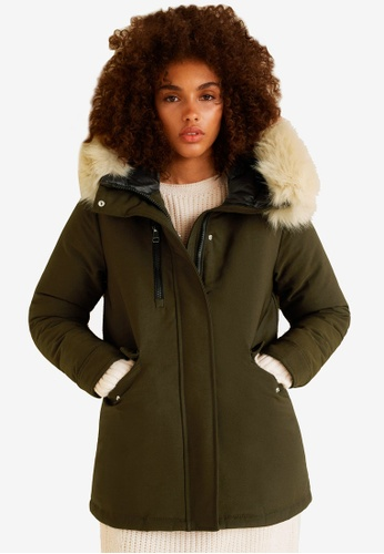 Mango green Hooded Water-Repellent Parka 0F132AA9790519GS_1
