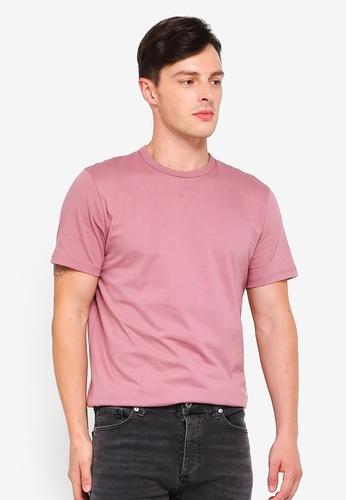 Topman 粉紅色 經典素色T恤 96E07AACCBB89DGS_1