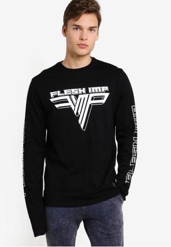 Flesh Imp 黑色 Hallen Extreme Long Sleeve Sweater FL064AA81NYKMY_1