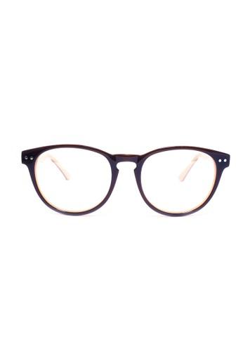 復古梨形鏡框│咖啡色搭焦糖色眼鏡│ esprit 會員卡P1053-C3, 飾品配件, 眼鏡