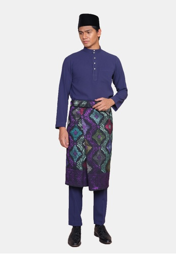 LosraVelda blue Baju Melayu Premium 3CE58AAF90C3BEGS_1