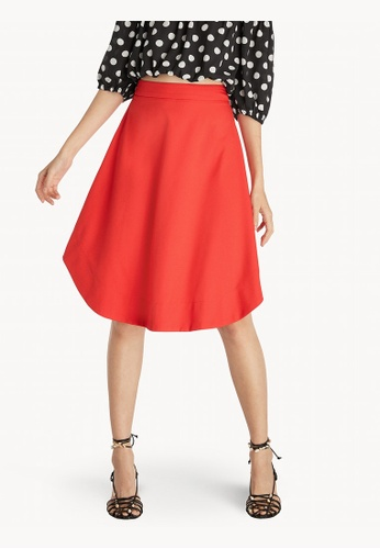 4a2b77a868 Buy Pomelo High Waisted Frill Skirt - Red Online on ZALORA Singapore