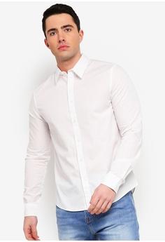 7fefdc45 Calvin Klein white Garment Dye Poplin Regular Long Sleeve Shirt - Calvin  Klein Jeans 00DEEAA5870E04GS_1