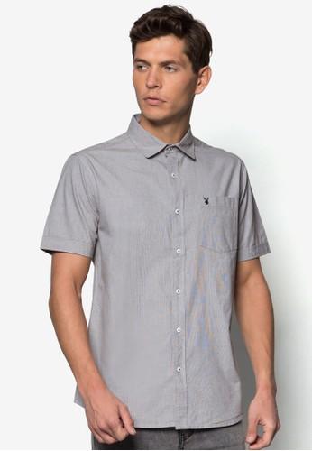 細格紋短袖襯衫, 服esprit 手錶飾, 格紋襯衫