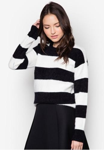 橫條紋基本款長袖衫, 服飾zalora 內衣, 服飾