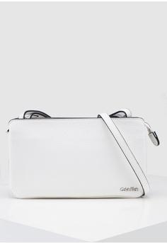 b47638a50e8 Calvin Klein white Pleated Sling Bag - Calvin Klein Accessories  0F14DACC8F7C27GS_1