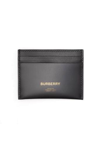 Burberry black Burberry Horseferry Print Card Holder in Black for UNISEX 92E40ACF9B8641GS_1