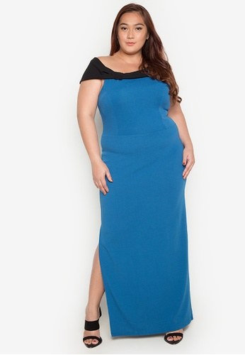 Daria blue Donatella Gown Plus DA017AA0JUVDPH_1