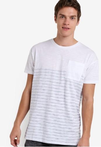 條紋短袖口袋TEE, 服飾, esprit台北門市服飾