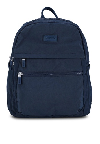 Bagstationz navy Crinkled Nylon Small Backpack FC345AC9A42D0EGS_1