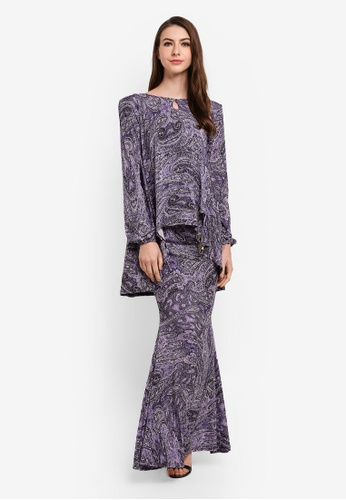 Zuco Fashion purple Mini Kurung High-Low F8D0DAA875D81FGS_1