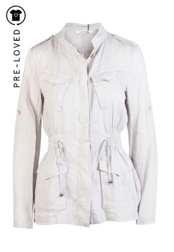 Marella beige Pre-Loved marella Grey Shirt 664F1AAF71771AGS_1