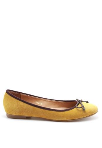 PRODUIT PARFAIT yellow Suede Ballerina 79896SH4296495GS_1