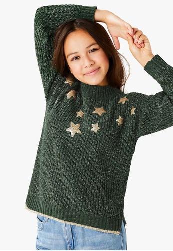 MARKS & SPENCER green Star Chen Jmper C7025KAE74D3F2GS_1