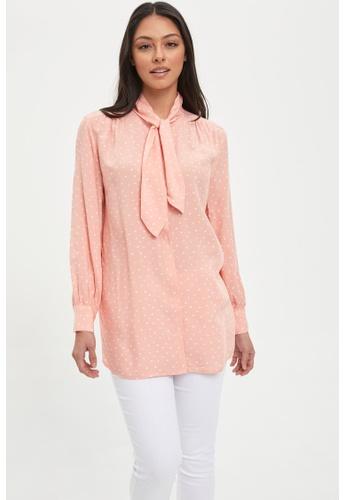 DeFacto pink Long Sleeve Viscose Tunic C6848AAD53393BGS_1