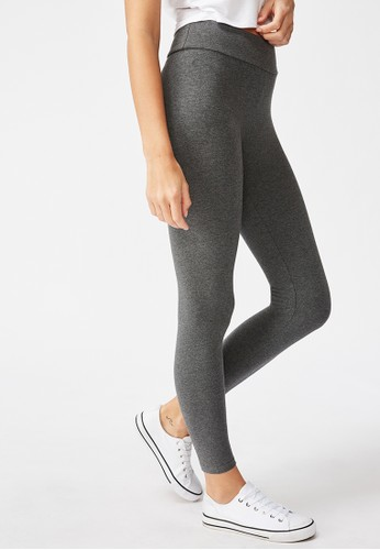 Cotton On grey DYLAN WAISTED LONG LEGGING B4A18AA1A38344GS_1