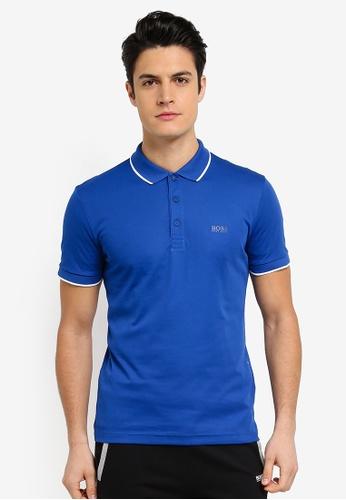 BOSS 藍色 PL-Tech Shirt - Boss Athleisure 434F5AA0434BE2GS_1