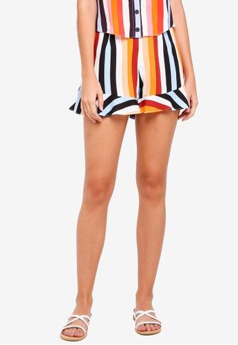 Miss Selfridge orange Petite Rainbow Flippy Shorts 01C85AA9DE1FABGS_1