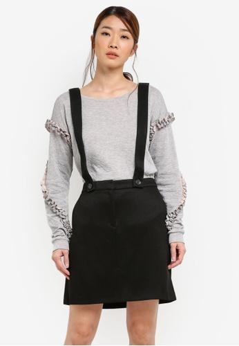ESPRIT black Woven Mini Skirt ES374AA0S2SRMY_1