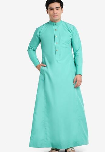 Amar Amran green Jubah A Slim Fit AM362AA40JYHMY_1