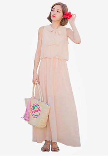 Tokichoi beige Sleeveless Maxi Dress 0CAFDAA0B58B6DGS_1